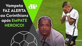 Vampeta brinca após Corinthians ser prejudicado: 'Mundo está de ponta-cabeça'