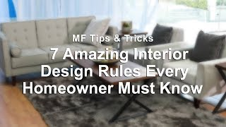 7 Amazing Interior Design Rules Every Homeowner Must Know   MF Home TV