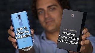 4 Kameralı, Yapay Zekalı Telefon! - Huawei Mate 20 Lite kutu açılışı - dooclip.me