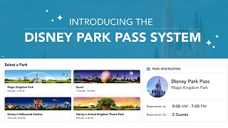 How to Use New Walt Disney World Park Pass Reservation System