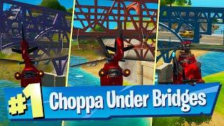Fly a Choppa under Purple, Red and Blue Steel Bridges - Fortnite Battle Royale