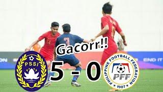 Indonesia U 22 (5) Vs Filipina U 22 (0)  | Merlion Cup 2019