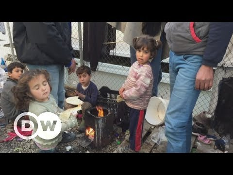 Refugees living in dire conditions on Lesbos