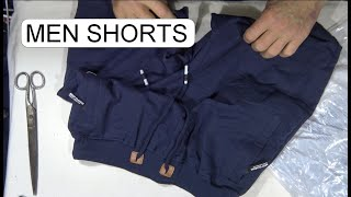 UNBOXING MEN SHORTS COTTON BLUE