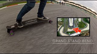 Evolve Carbon Street Electric Skateboard at the Sepang F1 Racing Circuit