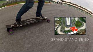 Evolve Carbon Street Electric Skateboard at the Sepang F1 Racing Circuit