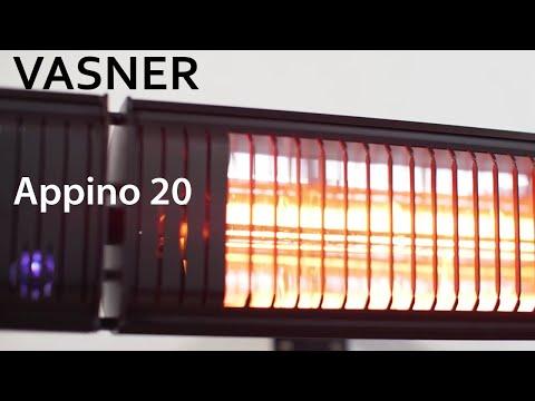 VASNER | Appino 20 Infrarot Heizstrahler 2000 W mit Bluetooth App Steuerung | Produktvideo