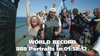 WORLD RECORD - 888 Professional Portraits in 7.092 seconds
