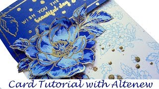 How To Make Layered Stamped Card With Altenew