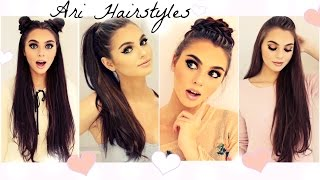 Ariana Grande Hairstyles   Easy & Fast Back To School Looks