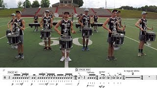 """2018 Carolina Crown Snares - LEARN THE MUSIC to """"Destination Moon"""""""