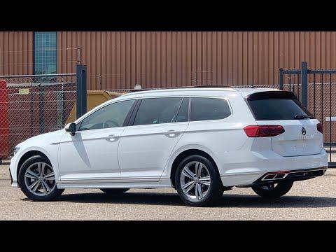 Volkswagen NEW Passat R-Line 2021 in 4K Pure White 17 inch Sebring walk around & detail inside