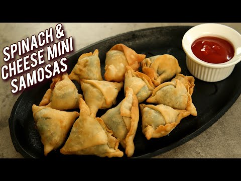 Spinach & Cheese Samosas | Quick and Easy Spinach & Cheese Corn Mini Samosas Recipe – Bhumika
