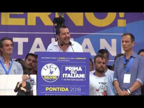PONTIDA, INTERVENTO INTEGRALE DI MATTEO SALVINI