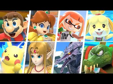 Super Smash Bros Ultimate - All 74 Characters Gameplay + Final Smashes
