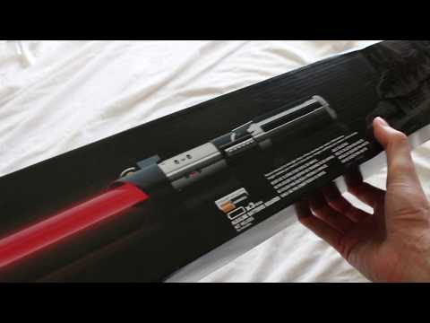 Star Wars The Black Series Darth Vader Force FX lightsaber unboxing