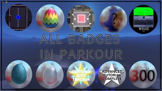 All Badges in Roblox Parkour (Halloween Update)