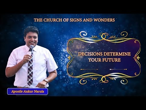 "✝✝✝ ""DECISIONS DETERMINE YOUR FUTURE"" - SERMON 