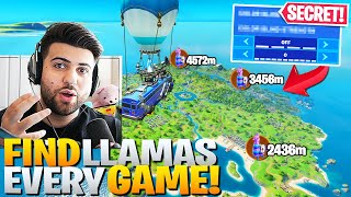 Find A Llama EVERY GAME with This SECRET Setting! (Fortnite Battle Royale Trick)