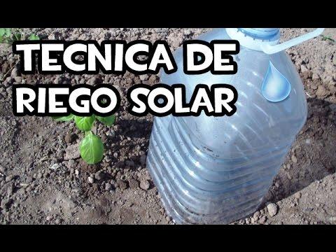 Tecnica de riego solar | Huerto Ecologico