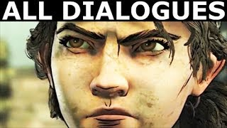 The Greenhouse Scene - All Dialogues & Choices - The Walking Dead Final Season 4 Episode 2