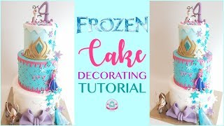 FROZEN CAKE DECORATING TUTORIAL | Abbyliciousz The Cake Boutique
