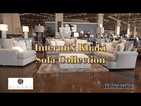 Albany Industries Intermix Contemporary Khaki Loveseat