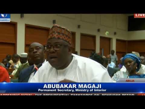 MAINA: Perm Sec, Min. of Interior, Abubakar Magaji's Presentation