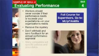 Supervisory Training and Supervisor Skills and Course