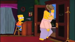 Grandpa Simpson walking in and out.