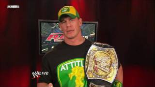 WWE Champion John Cena addresses the WWE Universe
