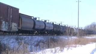 preview picture of video 'CN 8822 West.........& then  :)  - Old Hamburg Road - Napanee Ontario'