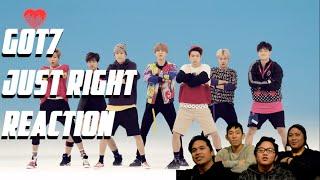 [4LadsReact] GOT7   JUST RIGHT (딱 좋아) MV Reaction