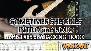 WARRANT | SOMETIMES SHE CRIES INTRO And SOLO With TABS And BACKING TRACK | ALVIN DE LEON (2019)