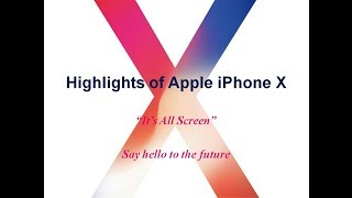 Highlights of Apple iPhone X