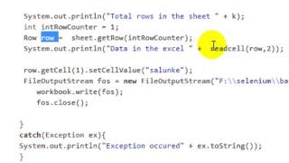 How to read excel sheet using apache POI in Selenium