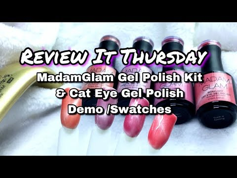 MadamGlam Cat Eye Gel Polish And Gel Kit Review And Swatches