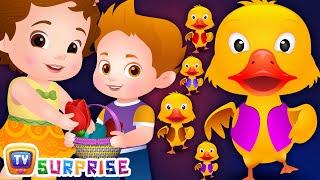 ChuChu TV Surprise Eggs Five Little Ducks - Learning Videos For Kids
