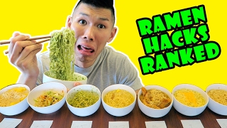 RAMEN HACKS RANKED: TASTE TEST Delicious/GROSS || Life After College: Ep. 532