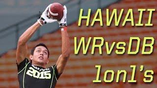 Hawaii WR vs DB 1 on 1's | 2015 Nike Football Combine