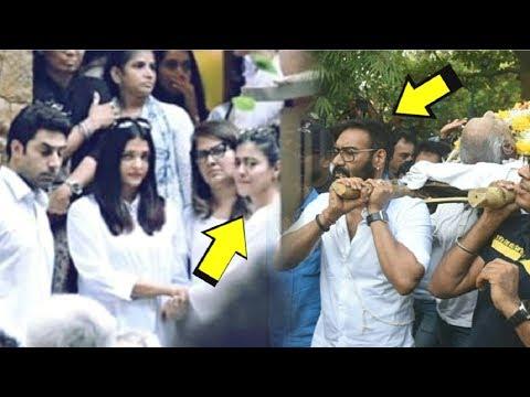 Ajay Devgan & Kajol EMOTIONAL At Father Veeru Devgan's LAST Rites INSIDE Video