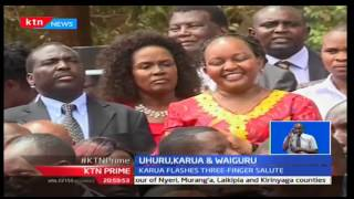 KTN Prime: Former CS Anne Waiguru shares a podium with President Uhuru as he tours Kirinyaga
