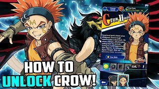 How To Unlock Crow Hogan in Yu-Gi-Oh! Duel Links 5D's World! (Tips & Tricks to easily unlock him)