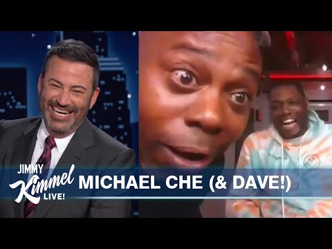 Watch Dave Chappelle Relentlessly Interrupt a Michael Che Interview on 'Jimmy Kimmel Live'