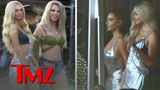 Kim Kardashian On Set For Paris Hilton's New Music Vid, 'Best Friend's Ass' | TMZ