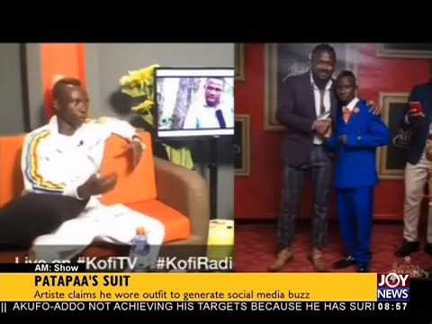 Patapaa's Suit - AM Showbiz on JoyNews (18-4-18)