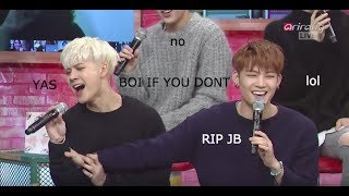 JB being done with GOT7 for 5 min