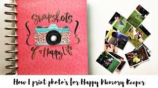 How I Print Photo's For Happy Planner Memory Keeper