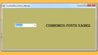 C# - How To Populate A ComboBox With Fonts Names In C#  [ with source code ]