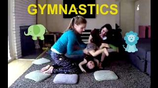 How To Do Gymnastics At Home! Toddler/Preschool Workout With Coach Meggin!